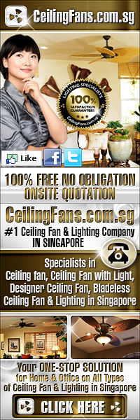 Call us fora 100% no obligation onsite quotation. We are the #1 Ceiling Fan & Lighting Supplier in Singapore. Call one of our 24 Hours hotlines today!